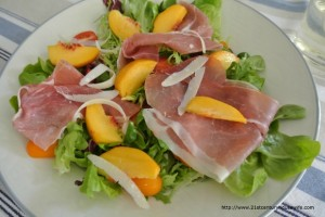 Nectarine and Proscuitto Salad