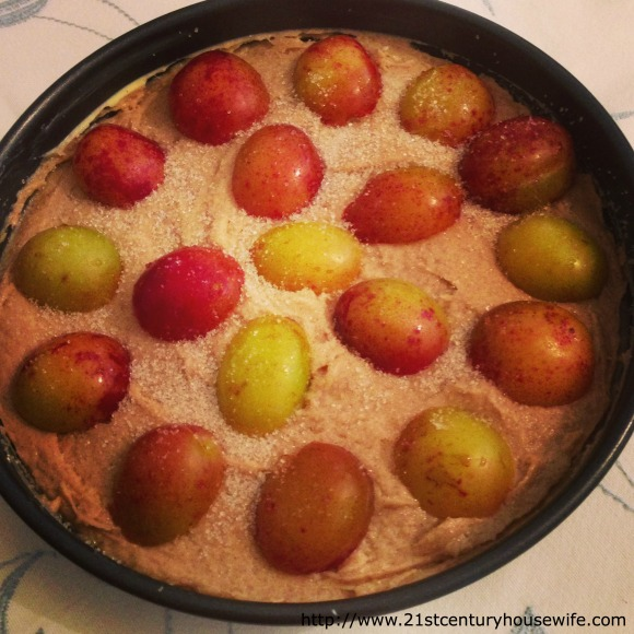 Spiced Plum Cake about to go into the oven