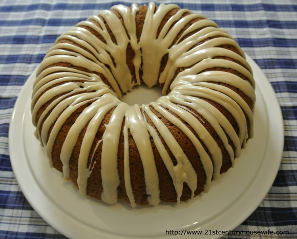 Apple Pecan Cake with Maple Glaze