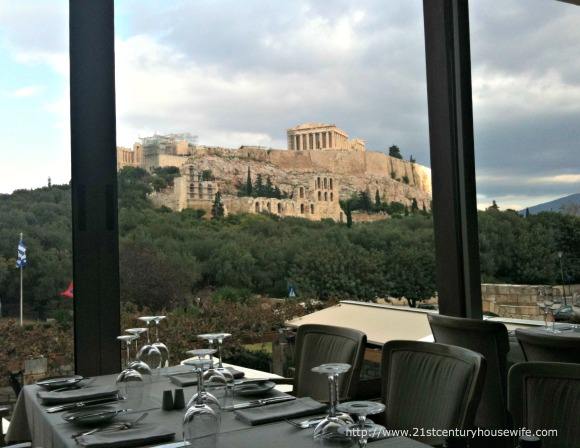 Dionysos Restaurant overlooking The Acropolis
