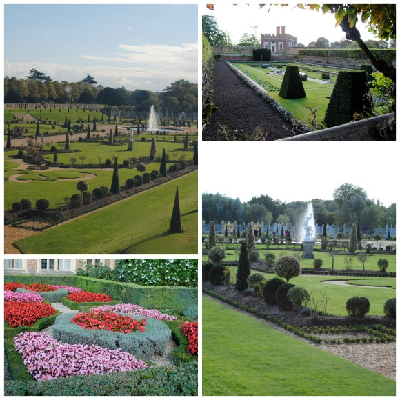 Hampton Court Palace Gardens Collage