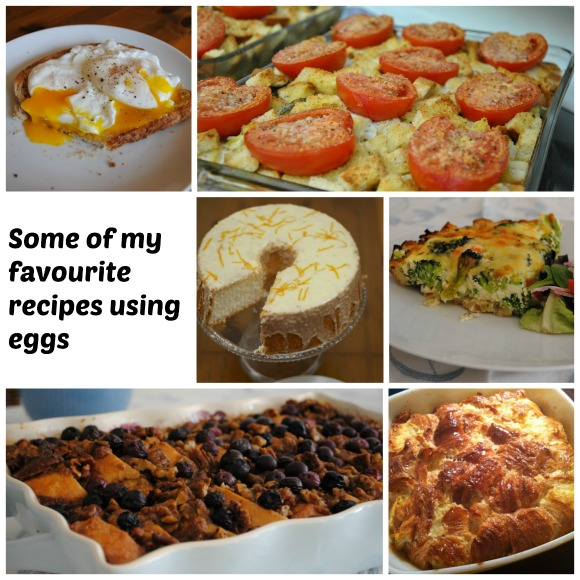 Some of my favourite egg recipes Collage