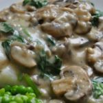 My Cod with Mushroom and Spinach Sauce is one of my favourite weeknight meals. It's quick, easy and, although there is cream in this recipe it's still pretty healthy with the spinach and mushrooms. It's also seriously delicious.