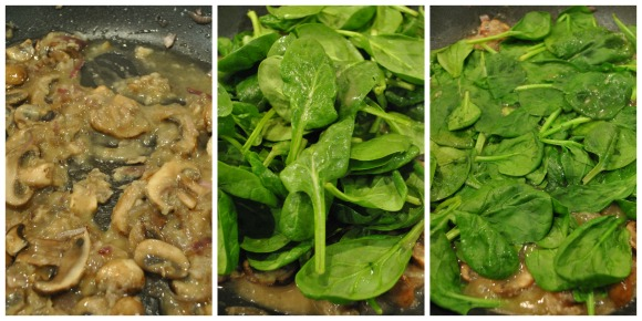 Cod in Mushroom and Spinach Sauce Collage