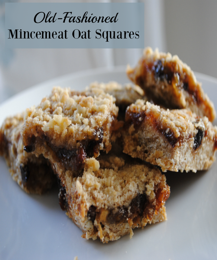 Old Fashioned Mincemeat Oat Squares Recipe April J Harris