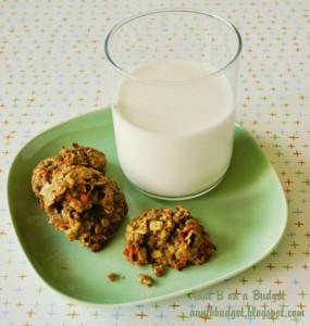 carrot and granola cookies 1