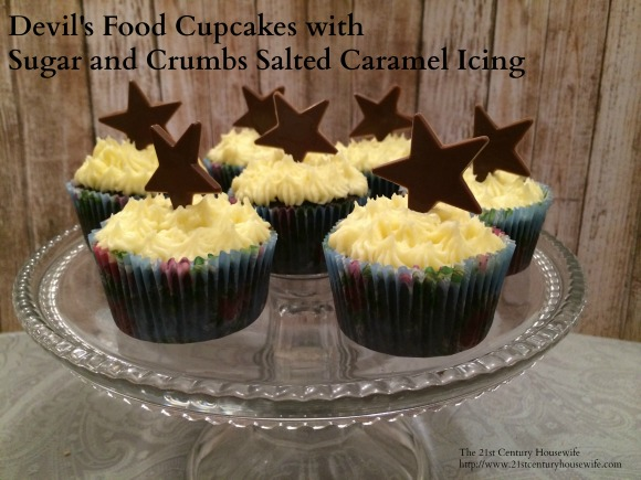 Devil's Food Cupcakes with Salted Caramel Icing