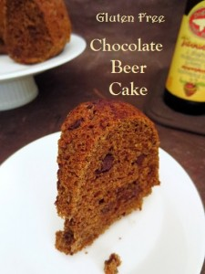 Gluten Free Chocolate Stout Cake GF Beer Chocolate cake