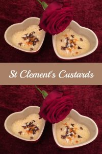 Perfect for a special dinner, My St Clements Custards are an easy, elegant, citrus-spiked version of crème brûlée - without the brûlée.