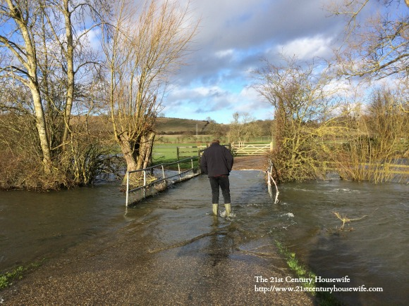 The flooded Thames Path