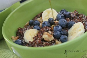 Breakfast Quinoa with Fruit and Maple from The Domestic Life Stylist