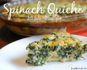 Easy Spinach Quiche from The Frugal Farm Wife