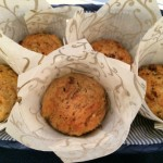 Applesauce Raisin Pecan Muffins