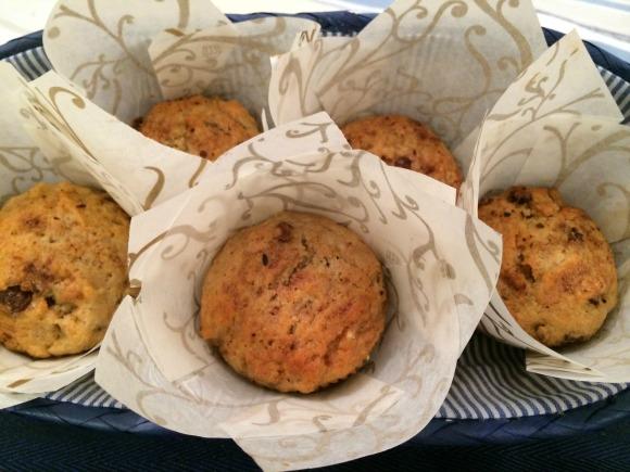 Applesauce Raisin Pecan Muffins