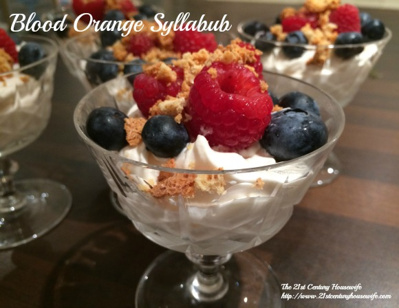 Blood Orange Syllabub