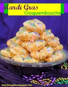 Mardi Gras Croquembouche