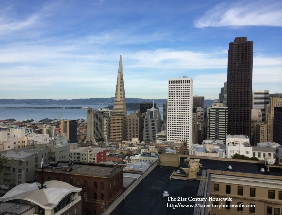 View of San Francisco from the Intercontinental Mark Hopkins Hotel