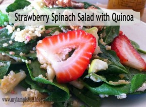 strawberrry spinach salad