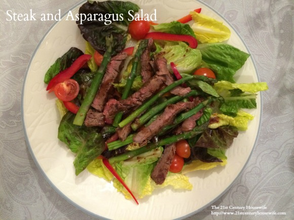 Steak and Asparagus Salad with Balsamic Vinaigrette