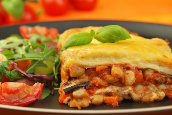 Aubergine (eggplant) Lasagna for National Vegetarian Week