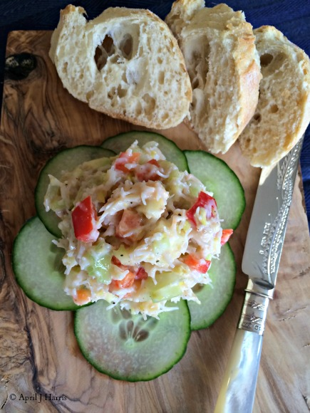Easy crab pate recipe april j harris for How to make canape shells at home