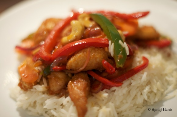 Chicken with Cashew Nuts on AprilJHarris.com