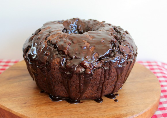 Chocolate and Banana Bundt Cake