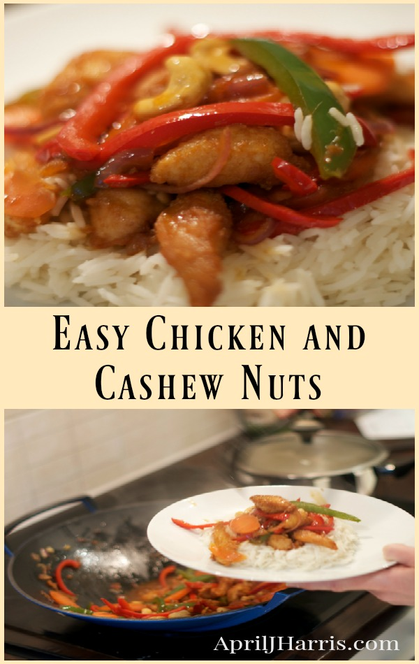 Easy Chicken and Cashew Nuts - an easier, healthier version of this restaurant classic