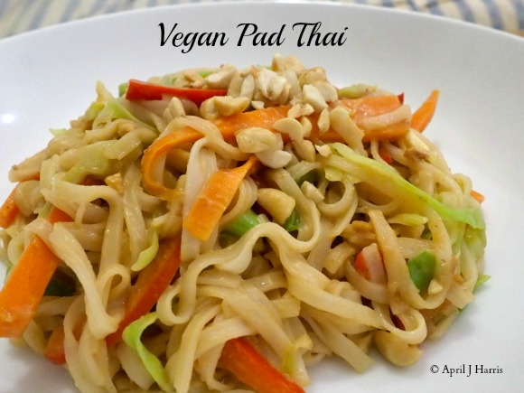 Vegan Pad Thai on AprilJHarris.com