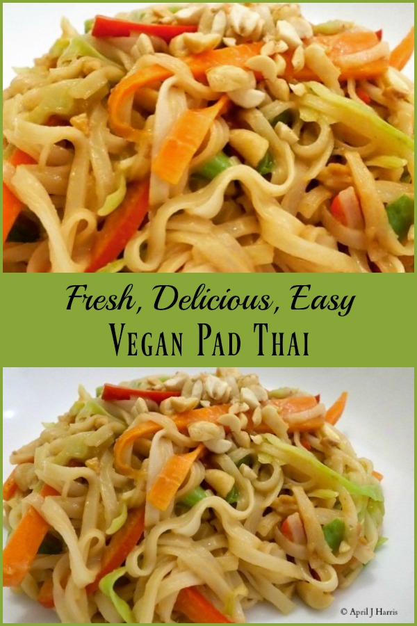 Fresh veggies, a tasty sauce and comforting noodles make this Vegan Pad Thai a treat any day of the week!