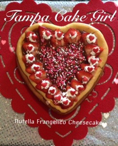 Nutella Frangelico Love Cheesecake
