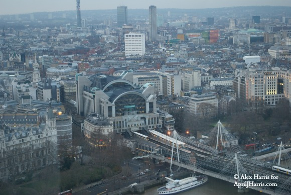 View of Charing Cross Station from  London Eye