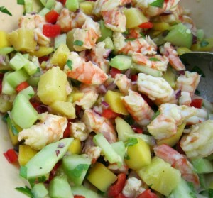Island Shrimp Salsa