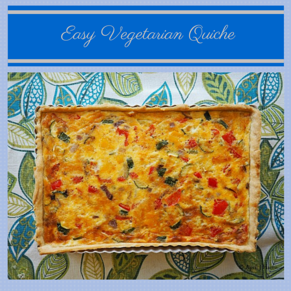 Quick and Easy Vegetarian Quiche on AprilJHarris.com