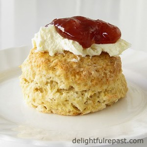 Scone with Homemade Clotted Cream