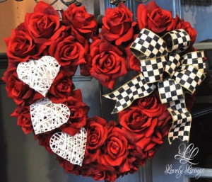 Valentine's Wreath by Lovely Livings