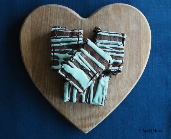 Delicious, decadent Chocolate Mint Brownies - an easy recipe to celebrate St Patrick's Day - or any day for that matter!