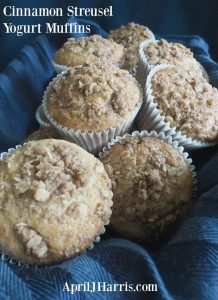 If you love a moist, streusel topped muffin, my Cinnamon Streusel Yogurt Muffin recipe is perfect for you!