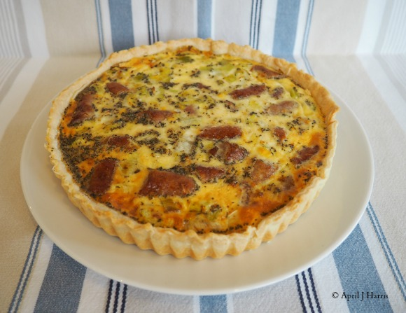 Sausage and Leek Quiche