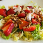 Strawberry and Walnut Salad with Walnut Balsamic Vinaigrette