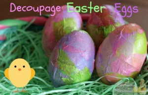 Decoupage Easter Eggs at the Hearth and Soul Hop Link Party