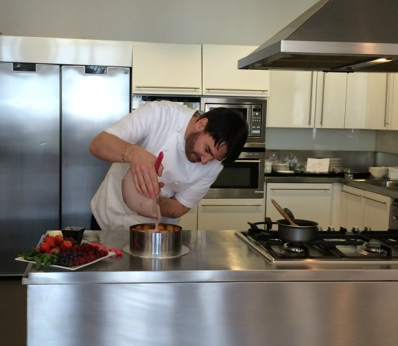 Eric Lanlard making Strawberry Charlotte Cake