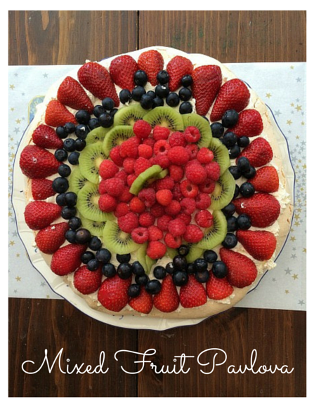 Mixed Fruit Pavlova