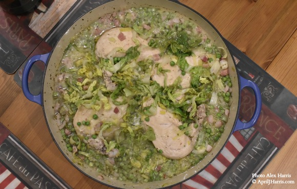 Petit Pois a la Francaise with Chicken