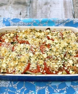 Provencal Vegetable Gratin, an easy vegetarian main dish or side