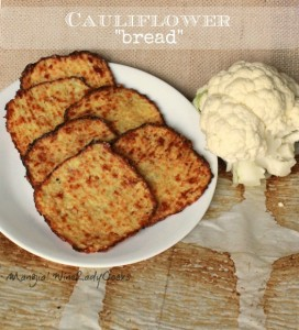 Cauliflower Bread at The Hearth and Soul Hop Link Party