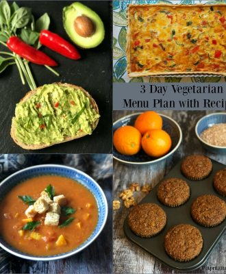 3 Day Vegetarian Meal Planning with Recipes