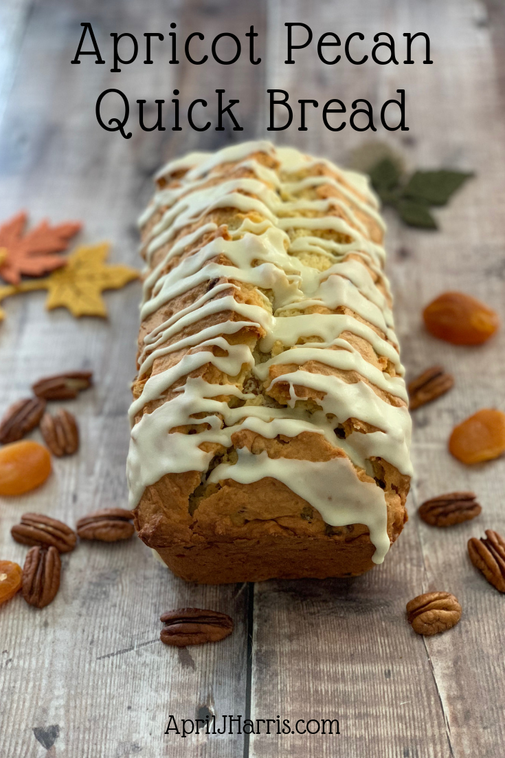 Don't miss my versatile recipe for Apricot Pecan Quick Bread! This ginger spiked loaf is studded with dried apricots and crunchy pecans, and is perfect for breakfast, dessert and snacks.