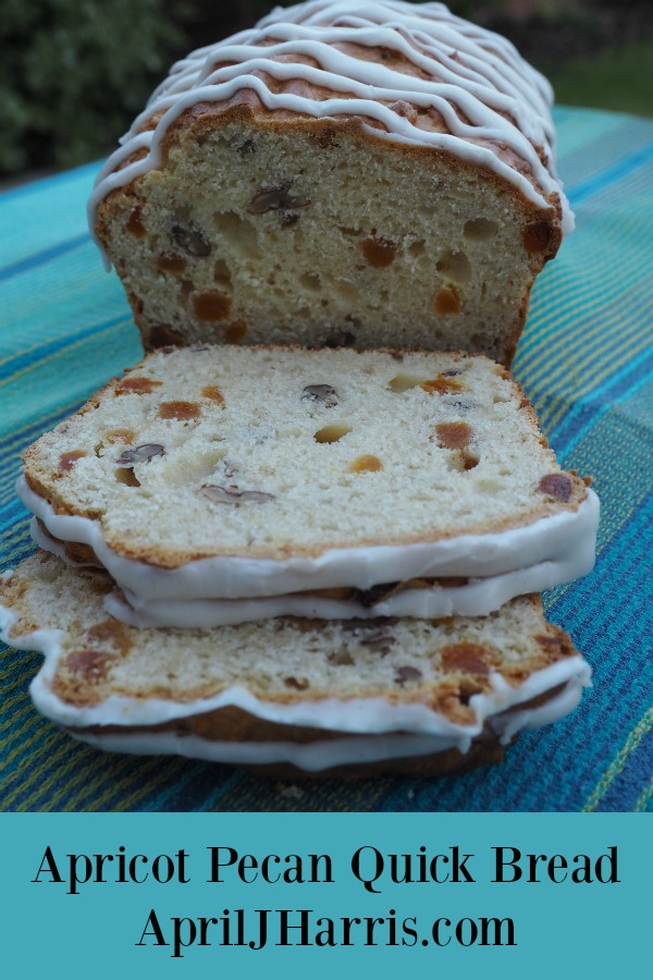 Apricot Pecan Quick Bread - an easy, fruit and nut studded, ginger spiked quick bread that isn't too sweet