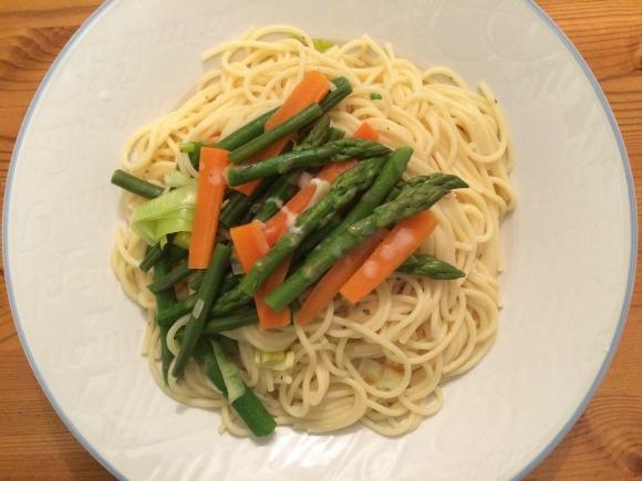 Spaghetti Primavera al Limone